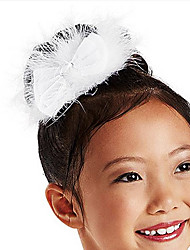 Dance Accessories Headpieces Children's Training Satin / Feathers Crystals/Rhinestones White Ballet / PerformanceSpring, Fall, Winter,