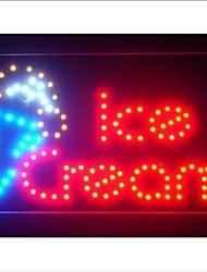 """led017-r Ice Cream Cafe LED Negocio luz de neón de 13 """"x 9"""""""
