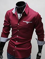 Ноно патч подкладка клеток с длинными рукавами рубашки