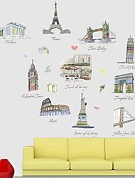 Frankie ™ Bâtiment bricolage décoratif Stickers muraux peut être retiré