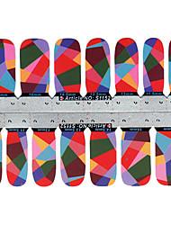 28PCS Mixs géométrie Color Design Nail Art Stickers