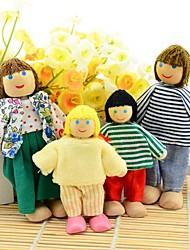 Новый 4шт Счастливая семья Пользователи Объединенная Кукла Обучающие рассказа игрушек для детей