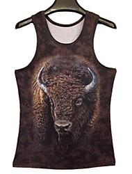 Homens Touro impressão 3D I-Shaped Vest