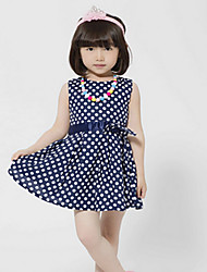Kid's Dress , Cotton Casual BASDIO