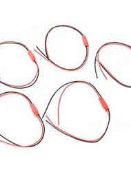 PVC 2pin Connecting Cables (Black + Red) (5 PCS)