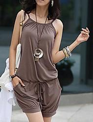 alça de elástico na cintura macacão feminino
