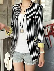 Styles Luto coréens Casual Stripe Slim Fit manches longues Suit