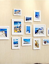 Weiß Photo Frame Collection Set von 12