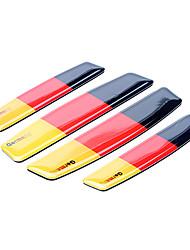 Simple motif drapeau de l'Allemagne de voitures bord de la porte de garde de protecteur Version autocollant (Kit 4 Pcs)