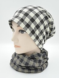 Hou Tong & ® Mulheres Grade Scarf Beanie Hat