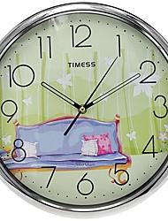 "Timess ™ 12 ""H Assistant Home Super Mute métallique Horloge murale"