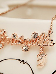Fashion Jewelry  Short Gold Plated Cinderella Set  Auger Clavicle Necklace for Women
