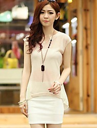 Women's Beige/Black T-shirt Short Sleeve