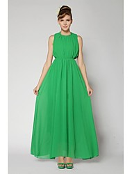 Женская Мода чешского шифон длинное платье