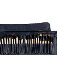 32pcs Makeup Brushes set blush/concealer/powder/foundation brush shadow/eyeliner/eyelash/brow/lip brush cosmetic brush kit makeup tool