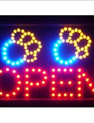 led073-r Paw perro Imprimir Pen Pet Shop LED letrero de neón