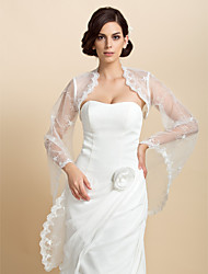 de encaje de manga larga ocasión especial chaqueta de noche / abrigo de la boda (más colores) encogiéndose de hombros bolero