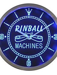 nc0448 Pinball machine de jeu LED Chambre Neon Wall Clock