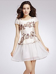 Rétro impression Slim Dress Yiman ®