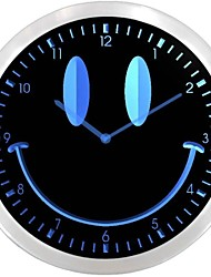 nc0928 Smiley Face Room Decor Gift Neon Sign LED Wall Clock