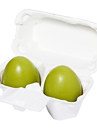 [Holika Holika] Smooth Egg Green Tea Egg Soap 50g x2ea