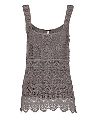 Women's Full Lace Embroidery Vest
