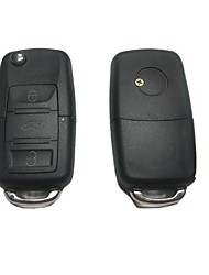3-Button Remote Flip Key Case for Volkswagen VW