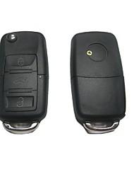 3-кнопочным пультом дистанционного Флип ключ чехол для Volkswagen VW