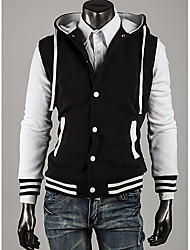 LangTuo Classic Slim Short Type Hoodie Cardigan Baseball Coat(White)