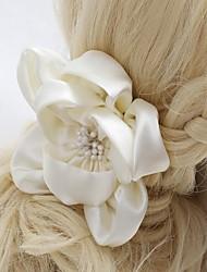 Capacete Flores Casamento/Ocasião Especial/Ao ar Livre Cetim Mulheres/Menina das Flores Casamento/Ocasião Especial/Ao ar Livre