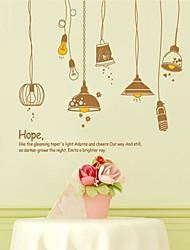 Mode papier design Lampe Avec plastique Autocollants et bandes (x1pcs Brown Couleur)
