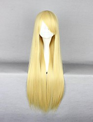 Golden Long Straight  Anime Cosplay Wig