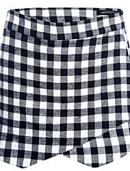 Cor Culotte Design Vestido Preto-branco da Mulher