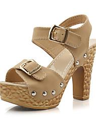 estilingue calcanhar robusto das mulheres de volta sandálias sapatos (mais cores)
