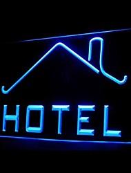 para la publicidad del hotel llevó la muestra de la luz
