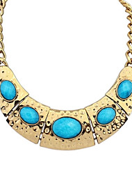 Women's European Ethnic Vintage Beaded Arc Alloy Bib Statement Necklace (More Colors)(1 pc)
