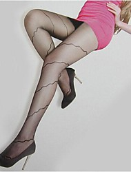 Ultra-thin Wire Core-spun Yarn Elasticity Curve Tights Soft Sexy Nylon Pantyhose  Hosiery