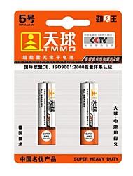 TMMQ R6P AA 1.5V High Capacity Mercury-free Batteries(2pcs)
