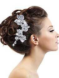 Legierung und Strass Damen Hochzeit Braut Blumen Haarkämme