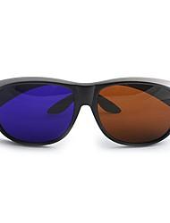 m&k alta definição marrom óculos 3d azuis gerais para computador e tv