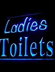 Ladies WC Publicidade LED Sign