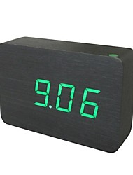 Shibaojia ® LED  Wooden Clock Sound Control Fasionable Design Clock