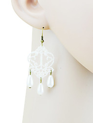 Dotu Europe And The United States Exaggerated Pearl Lace Accessories Earring