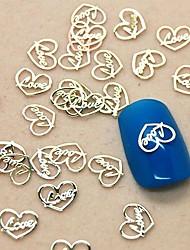 Fatia projeto do coração 200pcs amor de metal nail art decoração