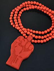 tendance de la mode poing pendentif collier pendentif en bois multicolore (1 pc) (plus de couleur)