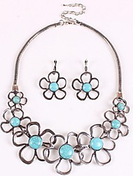 Sally Women's Vintage Floral Print Necklace