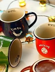 taza animal del vintage taza del estilo esmalte gran color al azar, 10.5x8x9cm