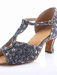 Customized Women's Sparking Glitter Dance Shoes For Latin/Ballroom Sandals