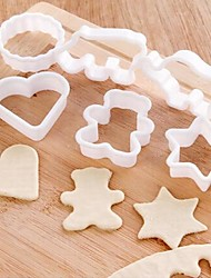 Animal Shape Plastic Biscuit Molds 6pcs