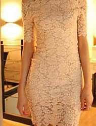 michaela sexy elegante kant boothals jurk